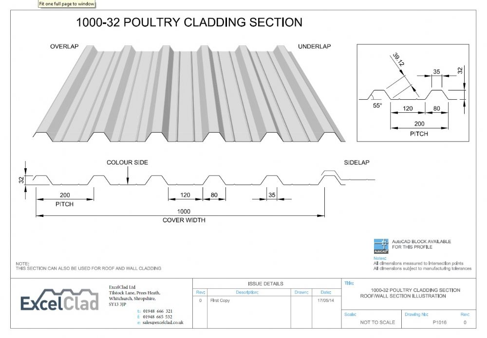 Excelclad 1000 32 Poultry Cladding